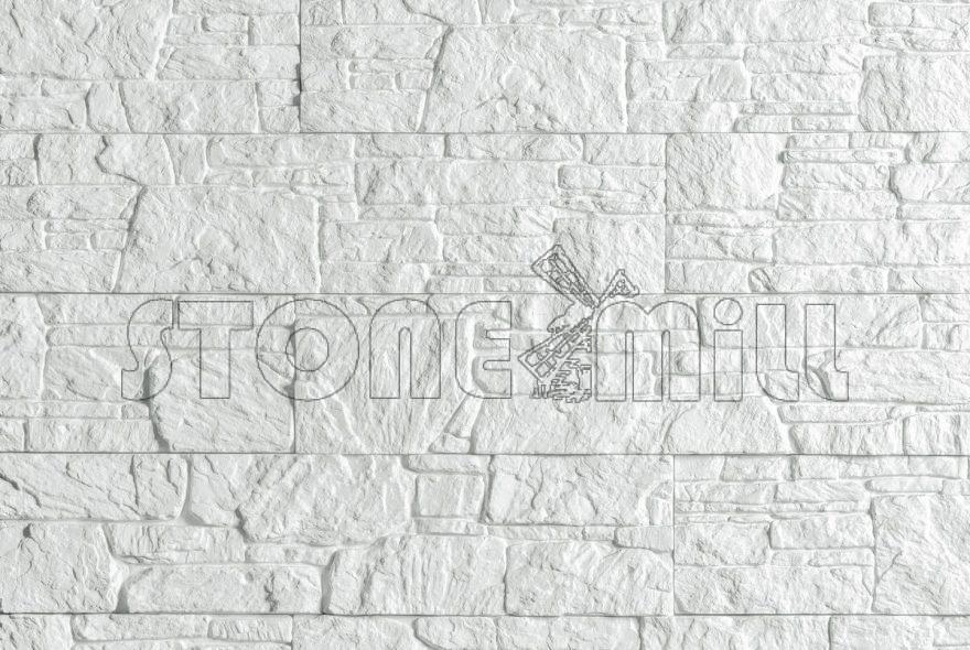 декоративный камень под сланец Буковинский белый
