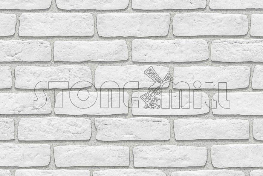 гипсовый кирпич Старый белый