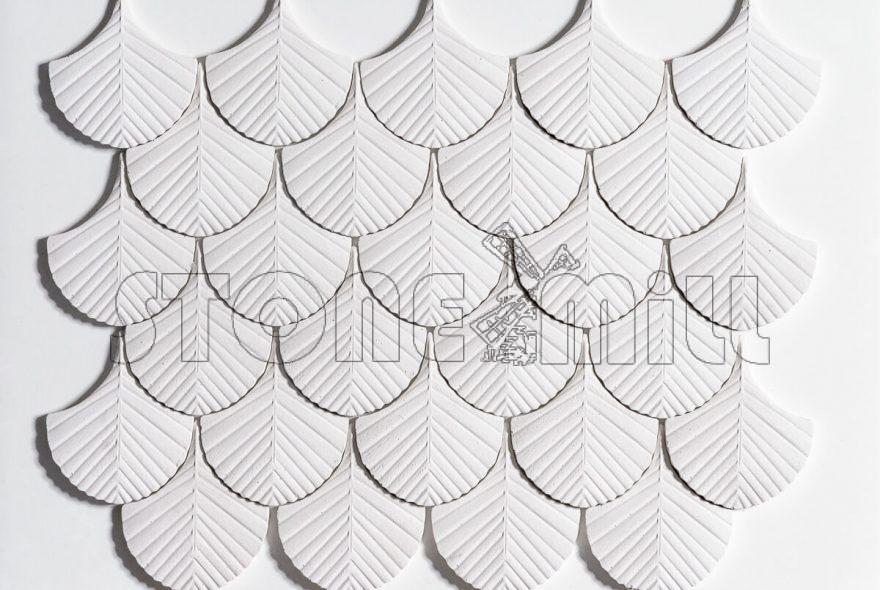 Декоративные гипсовые 3D панели Мини Перо