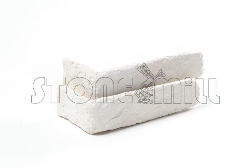 Угловой декоративный кирпич Лофт Брик белый