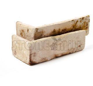 Угловой декоративный кирпич ручной формовки Рим