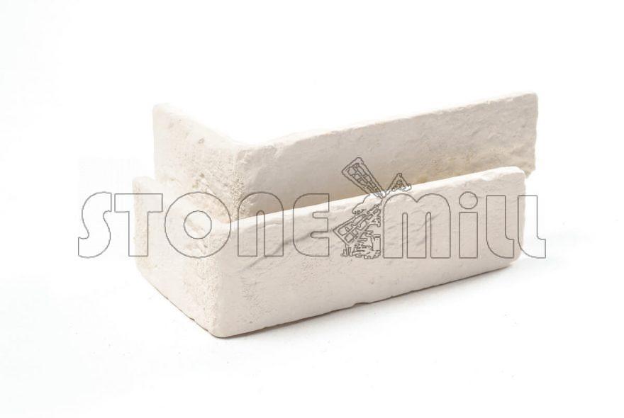 Угловые элементы декоративный кирпич Шамотный слоновая кость