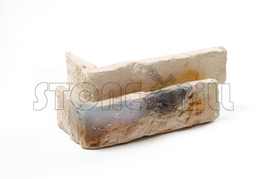 Угловой декоративный кирпич Старый бежевый