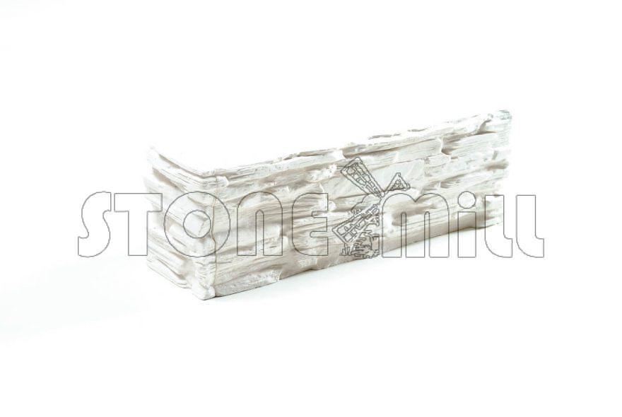 Угловой декоративный камень Саянский белый