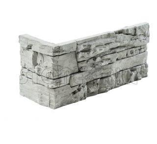 Угловой декоративный камень СТОУНВУД серый