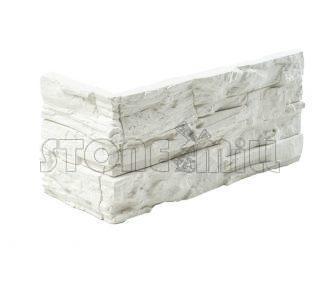Угловой декоративный камень СТОУНВУД белый