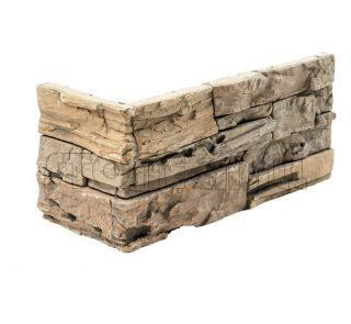 Угловой декоративный камень СТОУНВУД бежевый